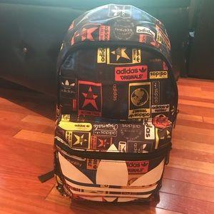 NEW Adidas Trefoil multi logo stamp backpack